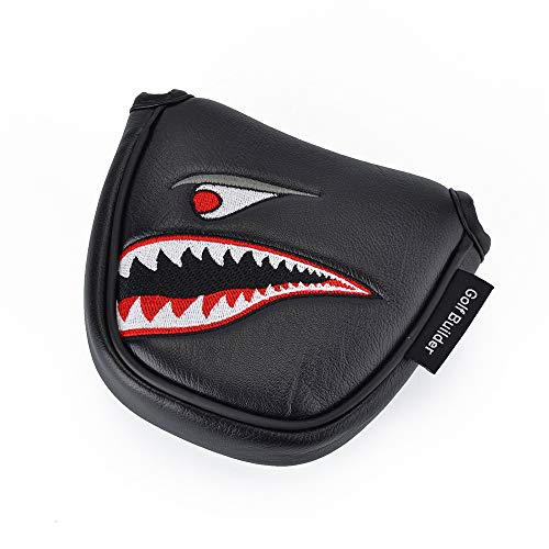 GOOACTION Shark Golf Club Mallet Putter Head Cover with Creative Cartoon Animal Pattern Synthetic Leather Golf Clubs Headcovers