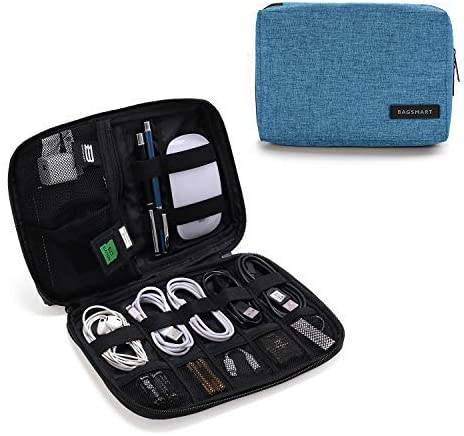 BAGSMART Electronic Organizer Small Travel Cable Organizer Bag for Hard Drives, Cables, USB, SD Card