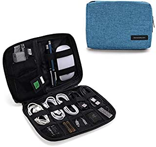 BAGSMART Electronic Organizer Small Travel Cable Organizer Bag for Hard Drives, Cables, Charger, USB, SD Card turquoise BM0200082A061-FUS