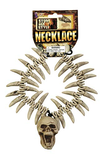 Forum Novelties Party Supplies 62942 Stone Age Teeth & Skull Necklace,...
