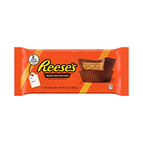REESE'S Milk Chocolate Peanut Butter Cups Candy, Chocolate Gift, 1 Lb. Pack