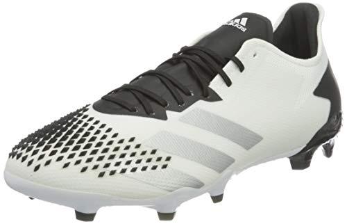 adidas Mens Predator 20.2 FG Soccer Shoe, FTWWHT/SILVMT/CBLACK,41 1/3 EU