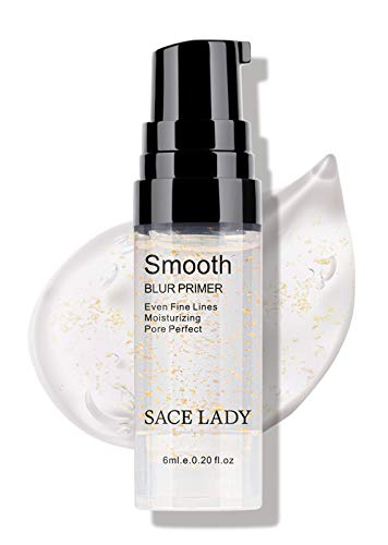 SACE LADY Makeup Foundation Face Primer, Smooth Moisturizing Pores Perfect Refining Makeup Primer for Dry Skin (6ml/ 0.20 Fl Oz)
