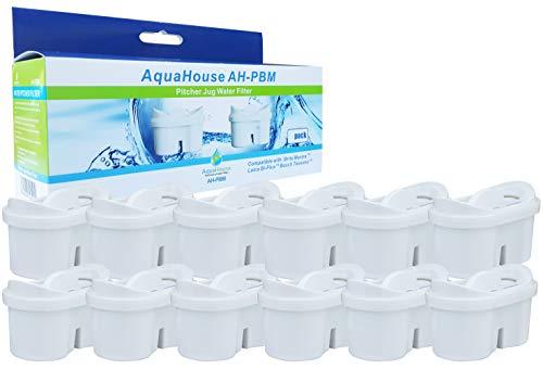AquaHouse Cartuccia compatibile con Brita Maxtra Filtri caraffe filtranti - 12 filtri