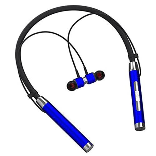 Los Nuevos Auriculares Inalámbricos 5.0 con Cancelación De Ruido Y Montados En El Cuello Son Adecuados para Deportes, Oficina, Fitness Y Otras Ocasiones,Azul