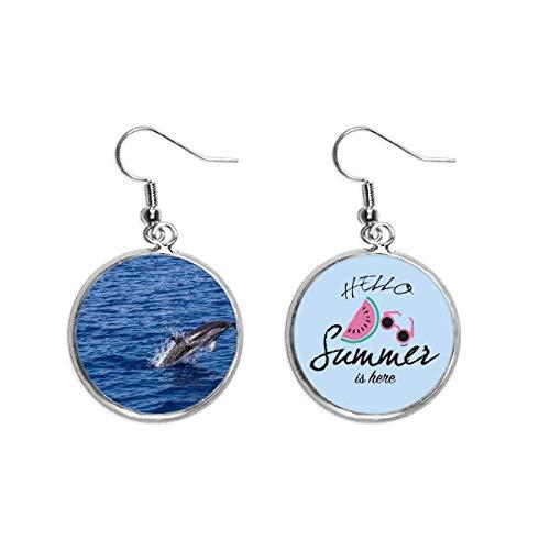Ozeanwasserkiller, Wal, Naturbild, Ohrhänger, Sommer-Wassermelonen-Ohrringe