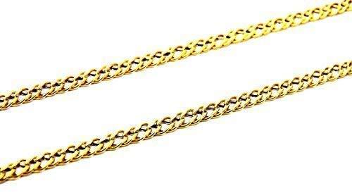 Collar de rombos de oro amarillo de 18ct y 50 cm -Cadena de mujer, joven, niño, unisex