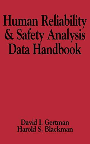 Human Reliability and Safety Analysis Data Handbook