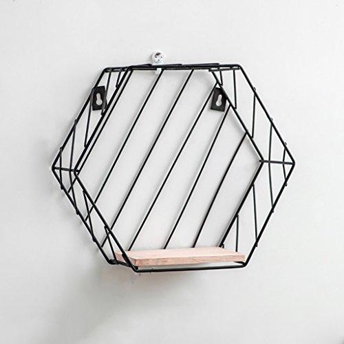 CQ Ins muur plank muur opknoping kamer slaapkamer nordic wind boekenplank gratis ponsen geometrische opslag decoratieve partitie zwart