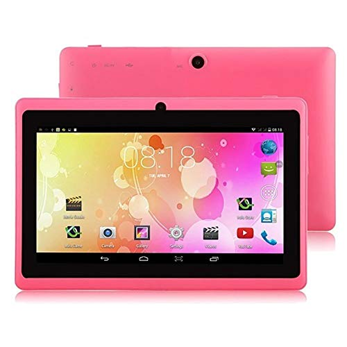 Blue-Yan Tablet für Schüler, 4 Kerne, IPS-Display, 4 GB, Android, WiFi-Tablet, Dual SIM, Kamera, 7 Farben Optional Rosa