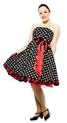 Strapless Dress - Polka Dots