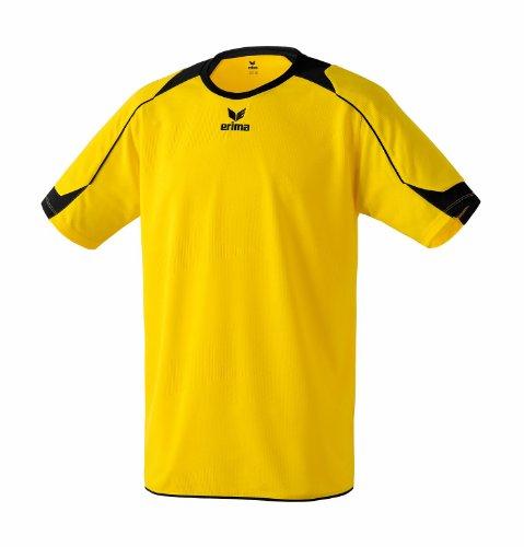 erima Santiago - Camiseta de fútbol de Manga Corta para niño Amarillo Amarillo y Negro Talla:128