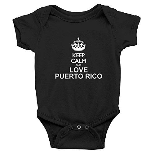 Teeburon Keep Calm and Love Puerto Rico Body de bebé