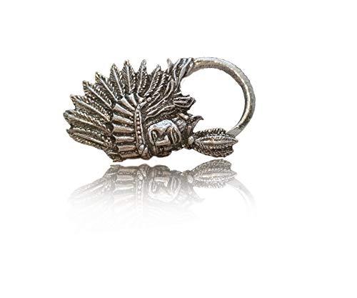 Occhiali da sole Holder pin, porta bicchieri indiano piuma gioielli per collare