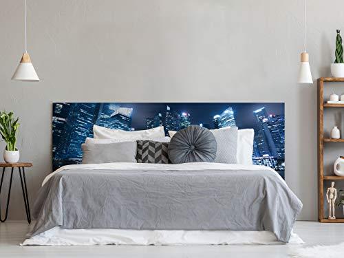 Cabecero Cama PVC Nocturno Urbano | Medidas 100x100 cm | Fácil colocación...