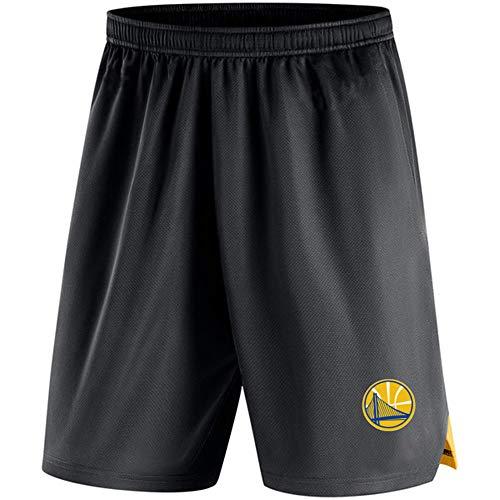 Pantalones Cortos De La NBA Golden State Warriors Entrenar Los Hombres Casuales Pantalones De La Playa Al Aire Libre Pantalones Sueltos Deportes Black-XXXL