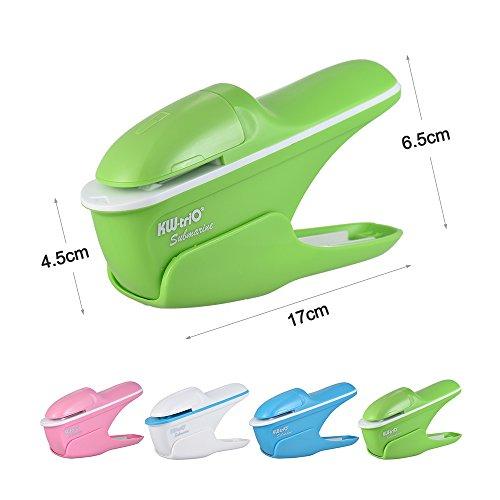 Aibecy heftklammerfreies Mini-Heftgerät, heftet bis zu 7Blatt ohne Heftklammern zusammen, für Arbeit, Geschäft, Schule, Büro - 2