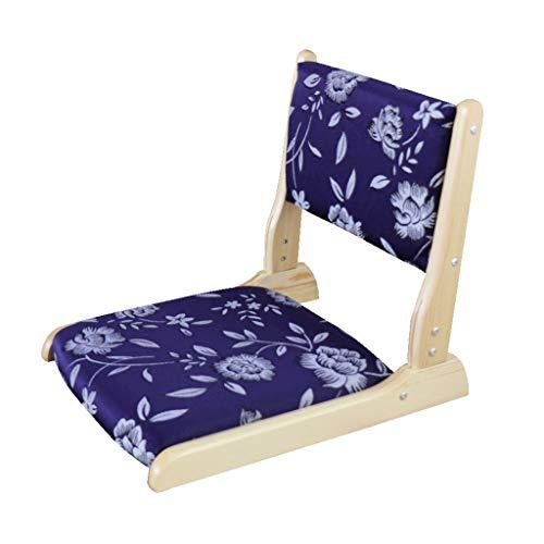 Xwz94 Japanse klapstoel zonder voeten, stoel, zonder poten, klapstoel, kruk van massief hout, leuning salontafel en stoel van glas, draagbaar
