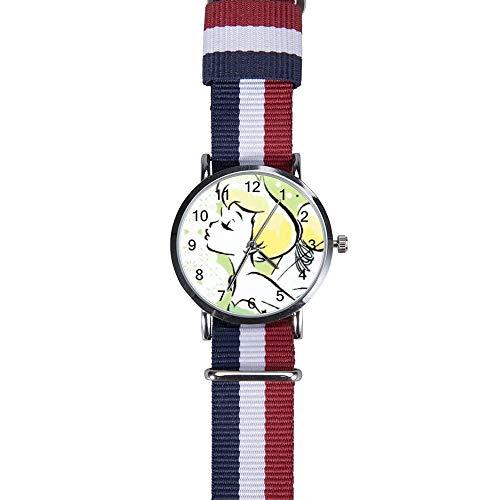 Armbanduhr mit Tinkerbell und Fee, Quarz, für Herren, Damen, Kinder, Freunde, Geschenk