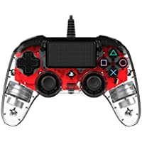 Nacon - Mando Compacto para PS4, color Rojo Cristal