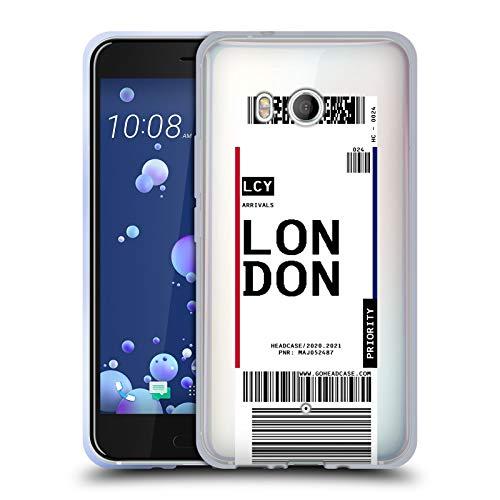 Head Case Designs London, England Etichette da Bagaglio Cover in Morbido Gel Compatibile con HTC U11 / Dual