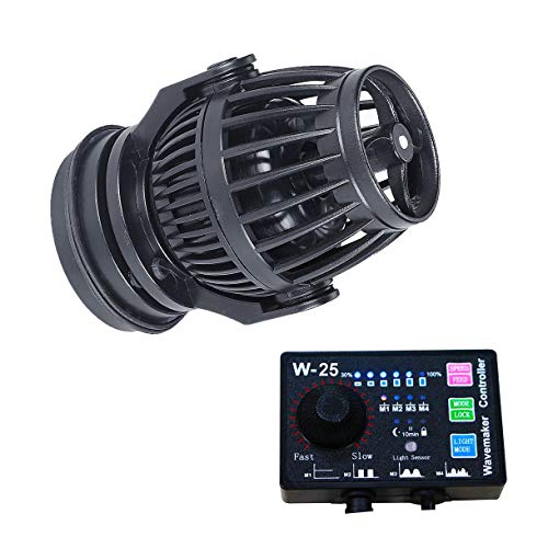Uniclife 2100 GPH Controllable Wavemaker with W-25 Controller and Magnet Mount for Marine Freshwater...