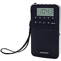 Sunstech RPDS81 - Radio portátil Digital Am/FM con Altavoz Integrado y función Sleep, Color Negro