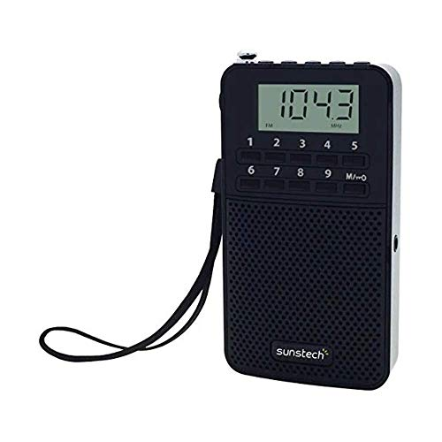 Sunstech RPDS81 - Radio portátil Digital Am/FM con Altavoz Integrado y función Sleep, Color Negro