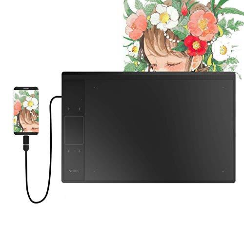 VEIKK A30 10 x 6 Pulgadas Digital Graphics Drawing Tablet Pen Tablet con 8192 Niveles Pasivo Pen y Smart Gesture Touch & 4 Touch Keys