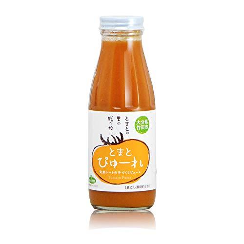 【業務用】荻町栽培農家のトマトピューレ 裏ごし濃縮2倍 (370g) ×12本