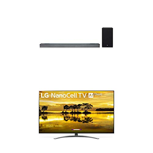 """LG 55SM9000PUA Alexa Built-in Nano 9 Series 55"""" 4K Ultra HD Smart LED NanoCell TV with 4.1.2 Channel High Res Audio Sound Bar w/Meridian Technology, Dolby Atmos"""