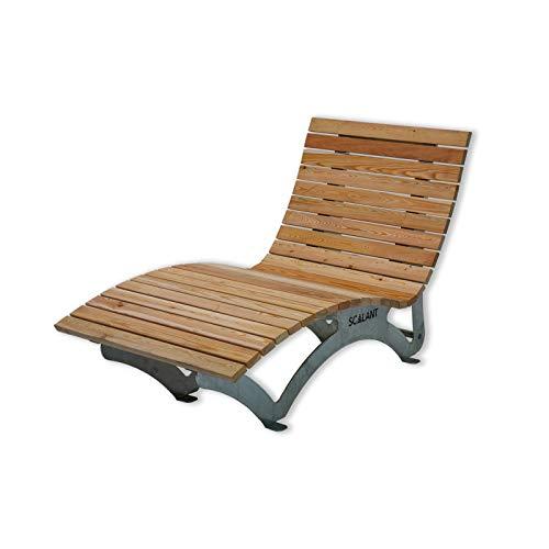 Sonnenliege Waldsofa Forst 75 für 1 Personen aus Holz | Außenliege, Himmelsliege, Wellnessliege, Holzliege für den Garten
