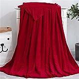SterneMond Kuscheldecken Sofadecke Blanket Flauschige Warm Sofadecke Weich Bettüberwurf Hochwertig für Bett und Sofa Kinderzimmer 50x70cm Rot