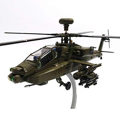 GRTVF American 1:72 AH-64 Modelo de helicóptero armado Aleación de simulación Aviones militares Modelo Modelo Adornos militares para niños Adultos Niños Niños Niños Niñas Regalo Coleccionistas