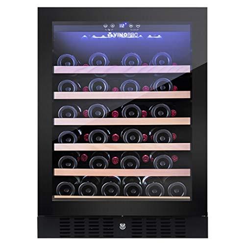 réfrigérateur Thermostat de vin de 46 Bouteilles, de Boisson de Porte en Verre trempé et Refroidisseur, Thermostat réglable, à économie d'énergie silencieuse