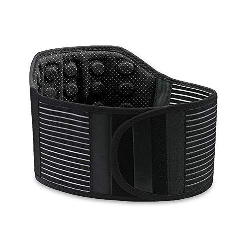 Lumbotrain Rückenbandage Selbsterhitzung Magnetfeldtherapie, Zum Männer Frau Schmerzlinderung & Verletzungen Verhindern, 21 Magnete (Size : XXL)