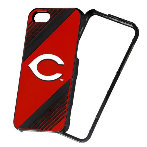 Forever Collectibles MLB 2-Piece Snap-On iPhone 5/5S Polycarbonate Case - Retail Packaging - Cincinnati Reds
