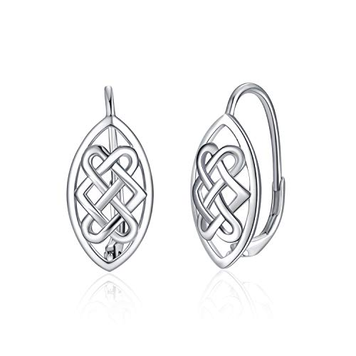 WINNICACA Celtic Knot Earrings Sterling Silver Leverback Earrings Jewelry for Women Teens Birthday Valentine Gifts for Women Mom Wife
