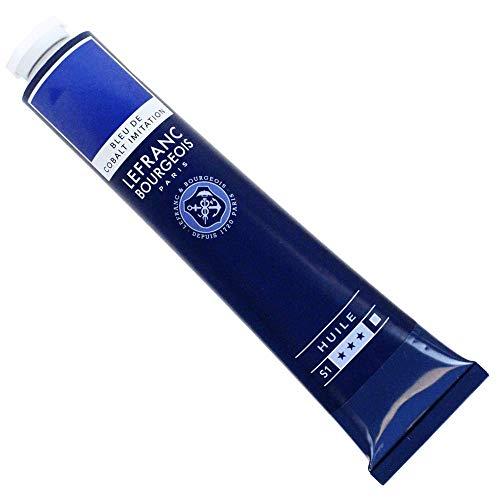Lefranc & Bourgeois Fine Oil Pintura al Óleo, Azul (Cobalt Blue Hue), 150 ml