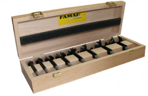 FAMAG 1622.508 Bormax®, Forstnerbohrer-Satz, 8-teilig im Holzkasten