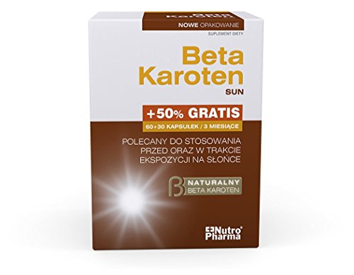 Beta Karoten Sun 60 + 30 Tabletten - eine spezielle Formel um Ihrem Körper die optimale Menge an Beta-Carotin zu versorgen We all want our skin to look good, healthy and less tired
