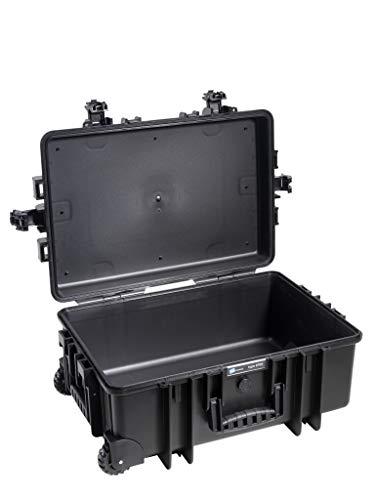 B&W Transportkoffer Outdoor Typ 6700 schwarz, Trolley Koffer, ideal auf Tour - wasserdicht nach IP67 Zertifizierung, staubdicht, bruchsicher und unverwüstlich
