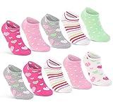10 Paar Kinder Sneaker Socken Jungen und Mädchen Baumwolle Kindersocken 56285 (31-34)