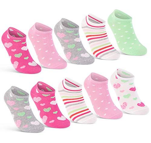 10 Paar Kinder Sneaker Socken Jungen & Mädchen Baumwolle Kindersocken 56285 (31-34)