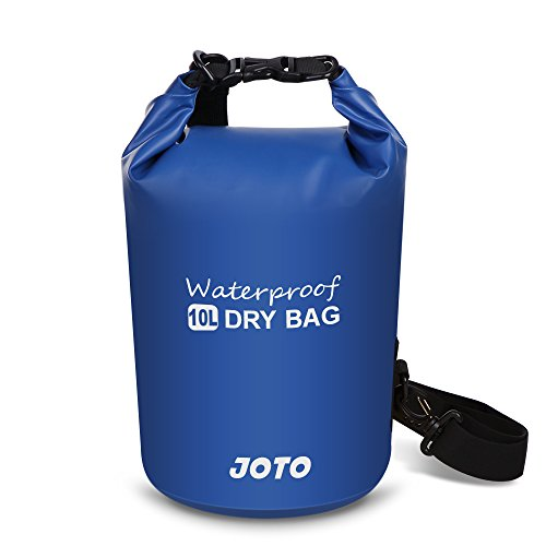 JOTO Dry Bag Sack Backpack 10L Waterproof Dry Bag for Outdoor Activities - Perfect for Boating, Kayaking, Fishing, Rafting, Hiking, Swimming, Floating, Camping [ 10L Floating Dry Bag ] (Navy Blue)