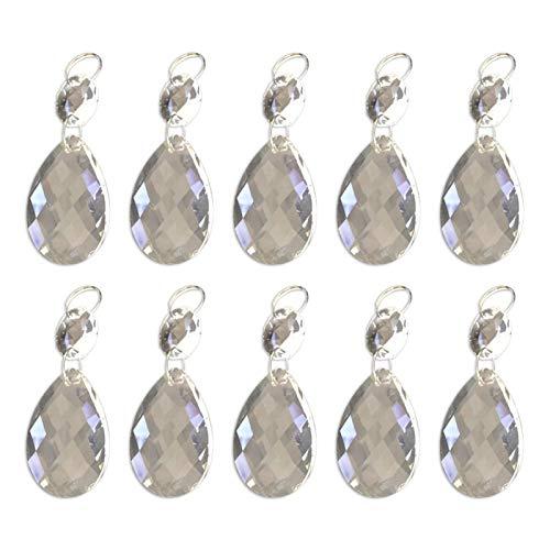 Su-luoyu, 10 ciondoli in cristallo, trasparente, per lampadario, con finiture ottagonali