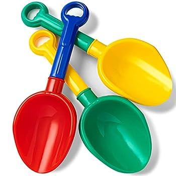 Beach Shovels for Kids - Large Size Premium ABS Plastic Sand Shovel Perfect for Little Hands 10IN Longer Sand Scoop for Garden and Snow Backyard