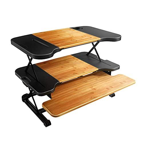 Datorarbetsstationer Ståbord Sit-Stand Höjd Justerbart skrivbord fällbart Datorbord Tre våningar Stående arbetsbänk Mobilt skrivbord kan bära 10 kg