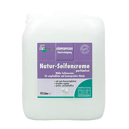 FRANKEN-Chemie Natur-Seifencreme (10 Liter Kanister) Handseife zur gründlichen und schonenden Reinigung für besonders empfindliche Haut, parfümfrei
