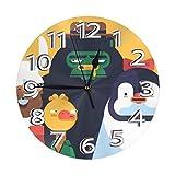 インテリア 掛け時計 アルパカ ダチョウ ゴリラ ペンギン 壁掛け時計 丸い 飾る時計 連続秒針 サイレント ウォールクロック デジタル コンパクト ウォールクロック 部屋 客室 教室 部屋装飾 贈り物 新築 開業